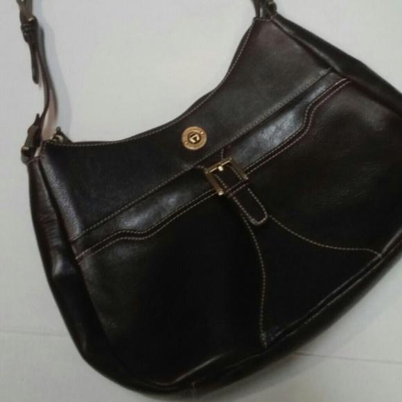 52793640c964 Etienne Aigner Handbags - Aigner Rich Brown Saddle Bag With Buckle